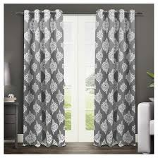 Insulated Curtain Panels Target by Set Of 2 Pair Medallion Blackout Thermal Grommet Top Window