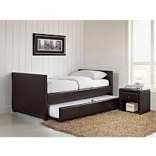 stratus twin daybed and trundle brown faux leather walmart com