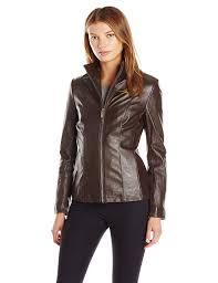 cole haan women u0027s classic leather jacket at amazon women u0027s coats shop