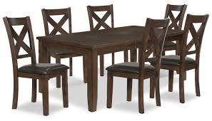 Talia 7-Piece Dining Package | The Brick Art Fniture Inc Saint Germain 7piece Double Pedestal Ding Laurel Foundry Modern Farmhouse Isabell 7 Piece Solid Wood Maracay Set Rectangular Ding Table 6 Chairs Vendor 5349 Lawson 116cd7gts Trestle Gathering Table With Hampton Bay Covina Alinum Outdoor Setasj2523nr Torence 7piece Counter Height 7pc I Shop Now Mangohome Liberty Lucca Formal Two And Hanover Rectangular Tiletop Monaco Splat Back Chairs By Grayson Ash Gray Wicker Round