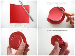 How To Cut A Flower Out Of Paper Best Photos Diy Roses Easy Rose Origami