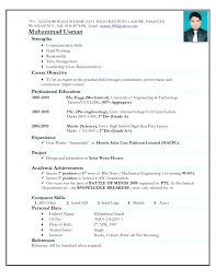 Diploma Mechanical Engineer Resumes Big Experience Certificate Sample For New Resume Format In Engineering
