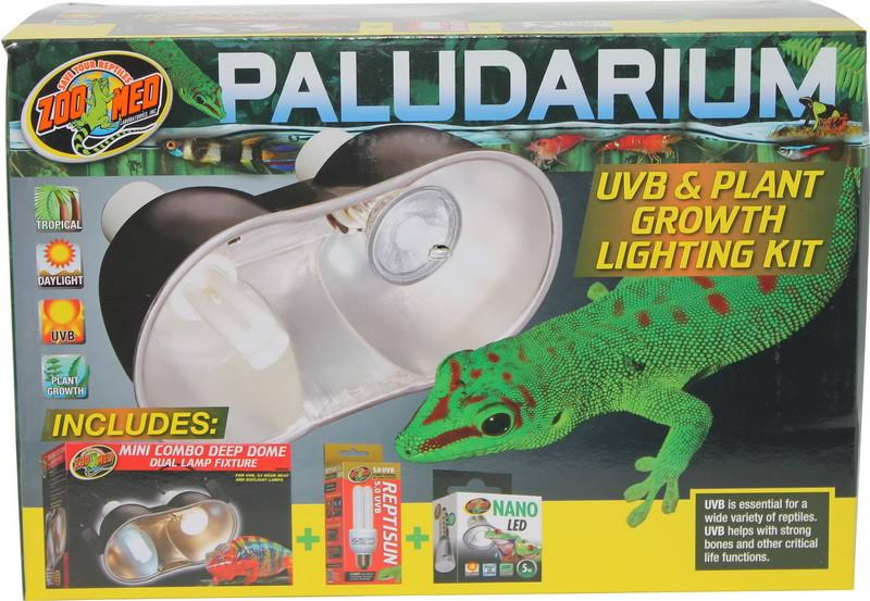 Zoo Med Laboratories Paludarium UVB + Plant Growth Light Kit