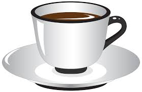 White And Black Coffee Cup PNG Clipart