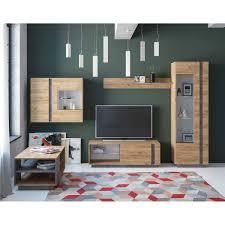 wohnzimmermöbel set in eiche dekor parla 5 teilig