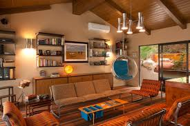 warm nuance of the farmhouse living room furniture that