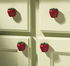 Decoration Country Apple Decor Kitchen Drawer Pulls Set Of 6 NEW