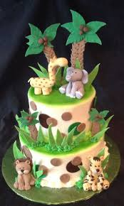 11 Rainforest Baby Shower Cakes Photo Jungle Animals Baby Shower