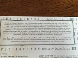 Are Pottery Barn Rewards Certificates Worthless Mommy Points