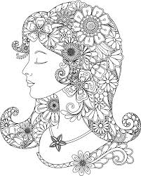 Lovely Lady Coloring Page For You To Color With Adult Pages App Its A