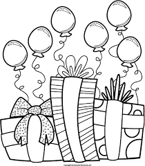 Birthday Clip Art Black And White 9123