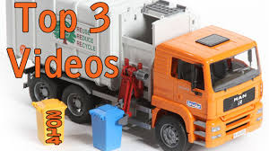 TOP 3 Toy GARBAGE TRUCK Videos Of The YEAR (2014) - YouTube Toy Trash Trucks In Action Garbage Truck With Side Arm Best Kids Playing Pictures Dickie Toys Walmartcom Videos For Children Unboxing Tonka Mighty Dumpster Worlds Recycling Waste Youtube Amazoncom 12air Pump Vehicle For Green Kawo Jack Bruder Video Gym Pickup Front Loader