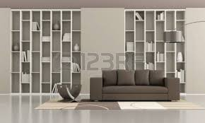 Brown Couch Living Room Design by Modern Lounge With Brown Sofa On Carpet And Floor Lamp 3d