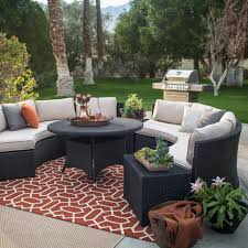 Semi Circular Patio Furniture by Belham Living Meridian Round Outdoor Wicker Patio Furniture Set