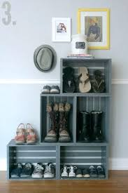 Crate Ideas How To Organize Shoes Using Wooden Crates Milk Fab Art Wood