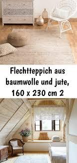 flechtteppich aus baumwolle und jute 160 x 230 cm 2 home