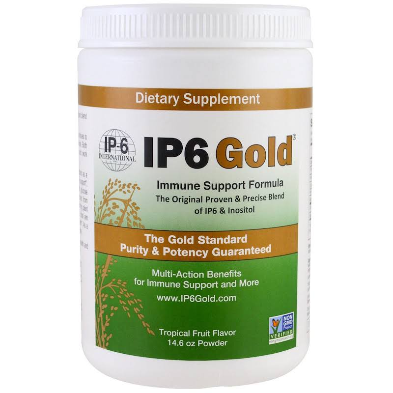 Ip6 Gold Immune Support Powder Formula - Tropical Fruit Flavour, 14.6oz