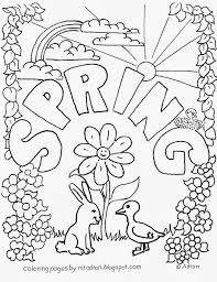 Kids Printable Spring Coloring Pages Archives And Free Inside
