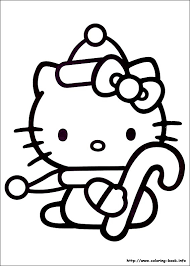 Free Hello Kitty Christmas Coloring Pages For Kids Printable