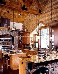 Rustic Log Cabin Kitchen Ideas by Best 25 Log Home Kitchens Ideas On Pinterest Log Home Interiors