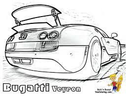 Super Fast Cars Coloring Bugatti Veyron Spoiler Too Stop Foolin Its True