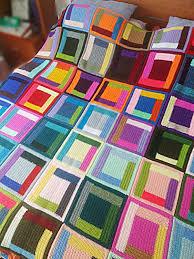 CUSTOM Crochet weighted Blanket Log Cabin Klimt Twin Size