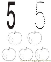 Number 5 Coloring Pages 7 Com Page