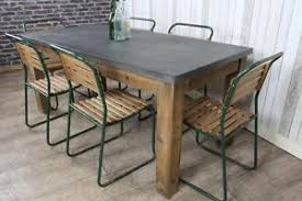 INDUSTRIAL STYLE ZINC TOP DINING TABLE LARGE RUSTIC