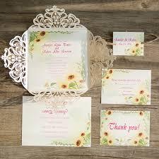 Ivory Laser Cut Sunflower Rustic Twine Wedding Invitations With Tags EWWS091 3