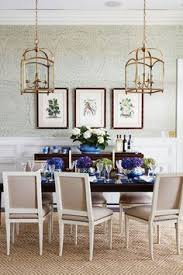 Feather Bloom Grass Cloth Wallpaper A With Delicate Pattern And Very Large Repeat Creates Interest In Dining Room Design By Andrew Howard