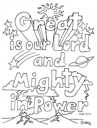 Coloring Pages Obeying God Love Others Kids Great Is Our Lord Psalm Free