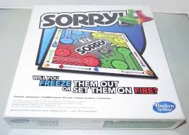 Hasbro Sorry Board Game Now With Fire Ice Power Ups 2 4 Players Ages 6 New