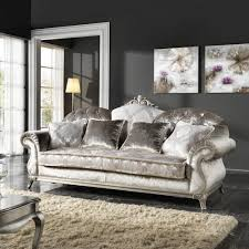 canapé style italien canapé 3 places de style baroque en tissu fait en italie liberty