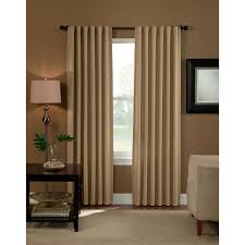 Eclipse Thermaback Curtains Smell by Curtainworks Semi Opaque Saville 108 In Black Thermal Curtain