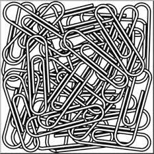 Clip Art Paper Clips 1 B&W I abcteach preview 1