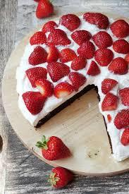 leichte erdbeer brownies experimente aus meiner küche