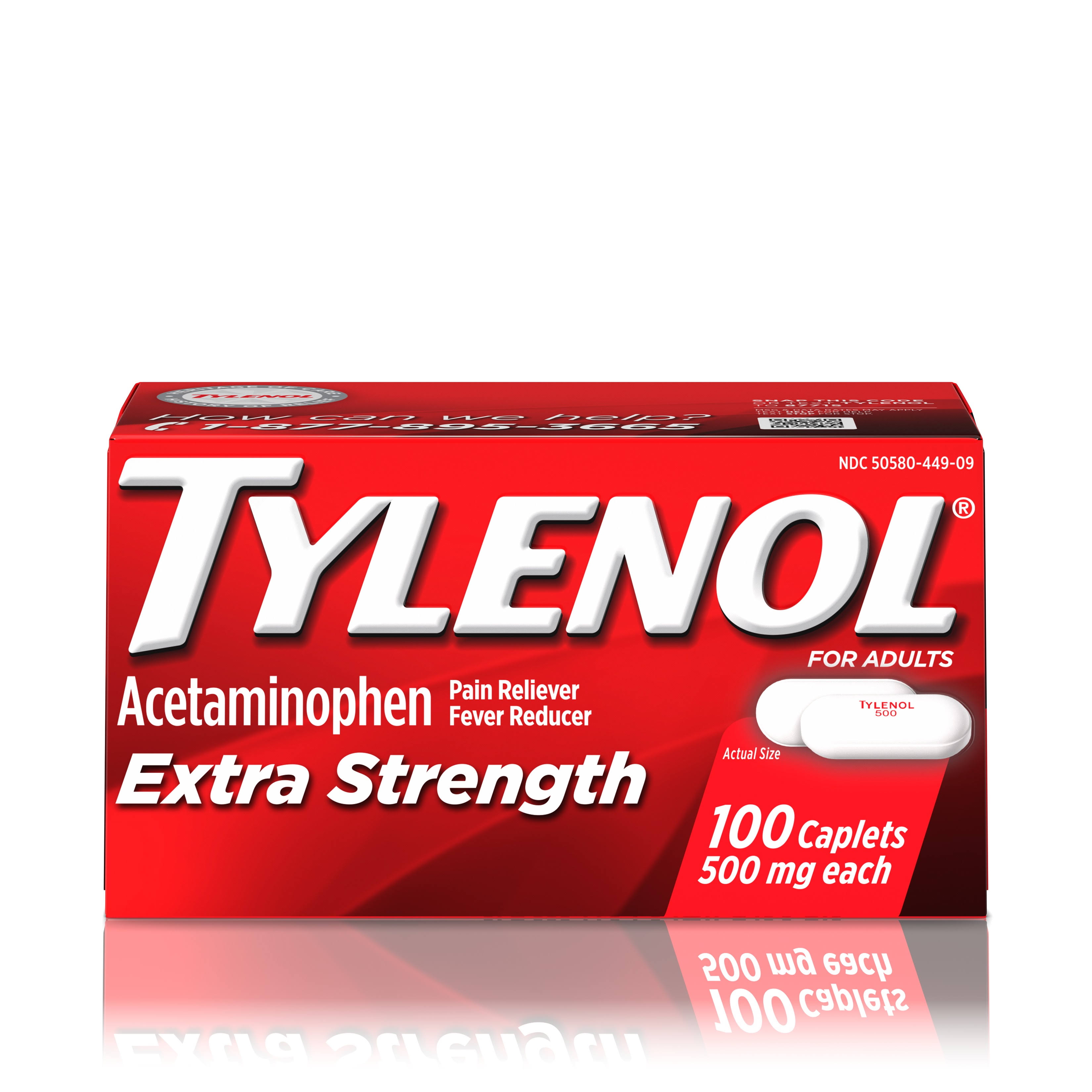 Tylenol Extra Strength Acetaminophen Pain Reliever - 100 Caplets