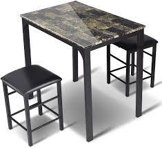 goplus 3 teilig tischgruppe esstischmit 2 stuehlen sitzgruppe essgruppe mit industriellem stil quadratische esstisch und stuehle fuer esszimmer