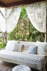 Bohemian Outdoor Patio Beach Style With Patterned Curtains Contemporary Throw Pillows