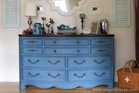 Aubusson Blue Dresser Re Do Artsy Chicks Rule