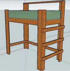 free diy full size loft bed plans awesome woodworking ideas how to