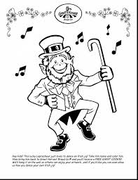 Spectacular St Patricks Day Coloring Pages With Leprechaun Page And Hat