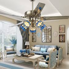 Ceiling Fan Dining Room Lamp Chandelier Lighting European Mediterranean Style Fashion Bedroom FS22 In Pendant Lights From