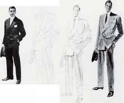 Mens Fashion Drawing Model