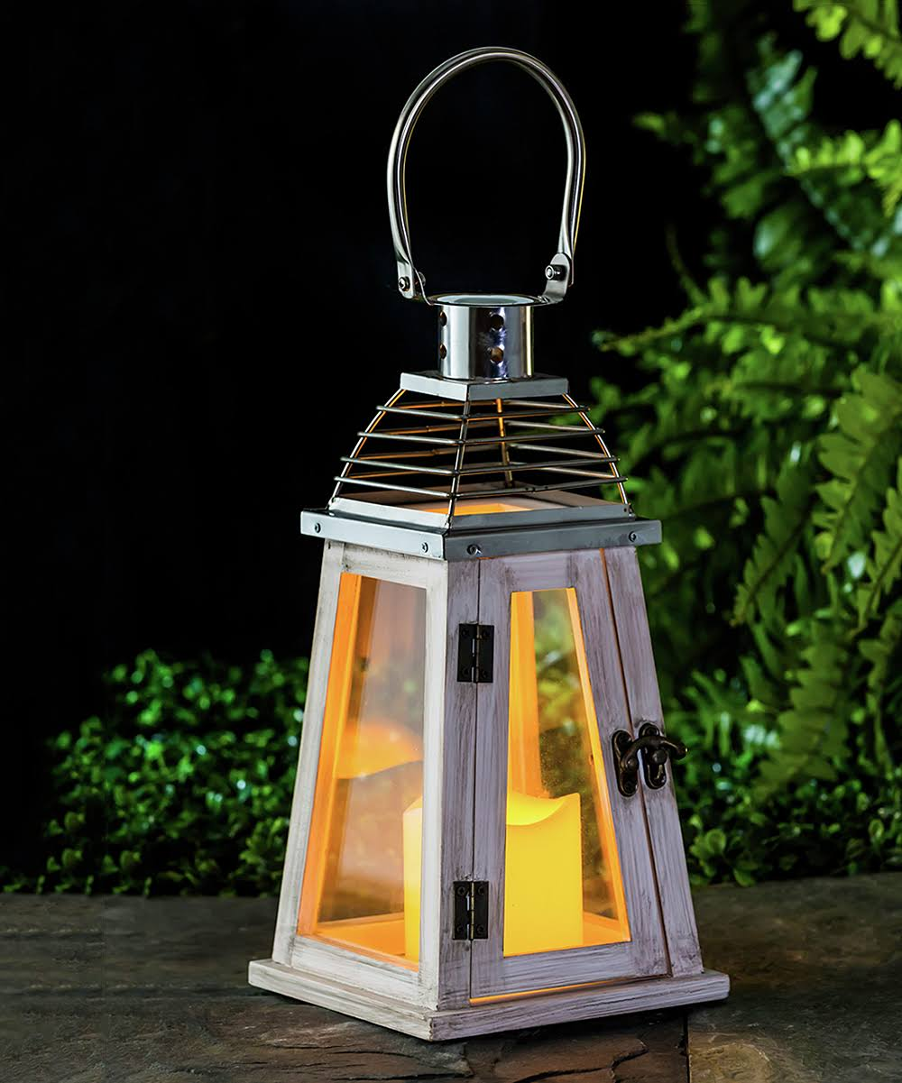 Evergreen Utility Lighting - White Solar LED Lantern