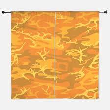 Orange Camo Window Curtains & Drapes Orange Camo Curtains for Any