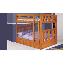 Low To The Ground Bunk Beds by Discovery World Furniture Honey Full Over Full Mission Bunk Bed