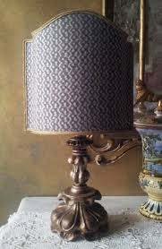 Threaded Uno Fitter Lamp Shade by Antique Italian Silvered Carved Wood Table Lamp With Fortuny