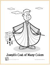 Joseph And His Coat Of Many Colors Coloring Page 20 Josephs