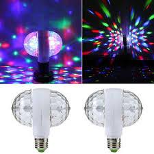 6w e27 rgb rotating led stage light bulbs disco